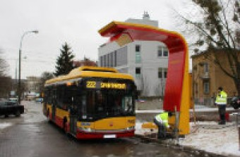 "First in the world: e-bus charger and charging post ""in one"" installed in Warsaw"